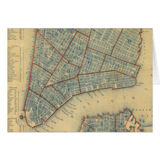 Vintage Map of New York City (1846) Card