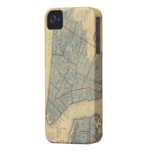 Vintage Map of New York City (1846) iPhone 4 Case