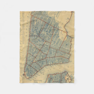 Vintage Map of New York City (1846) Fleece Blanket