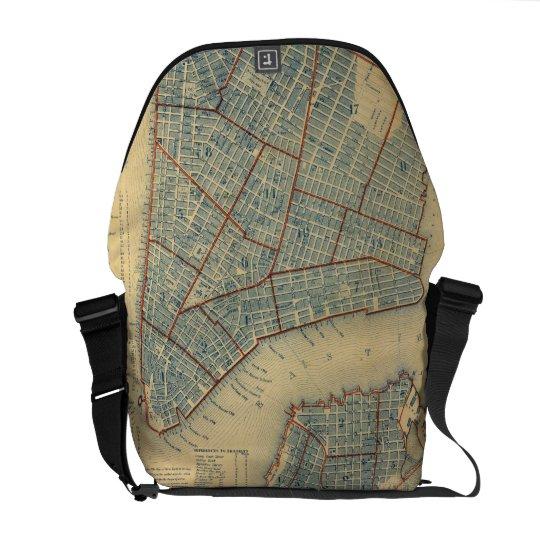 Vintage Map of New York City (1846) Messenger Bag