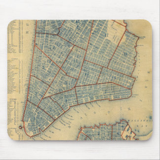Vintage Map of New York City (1846) Mousepad
