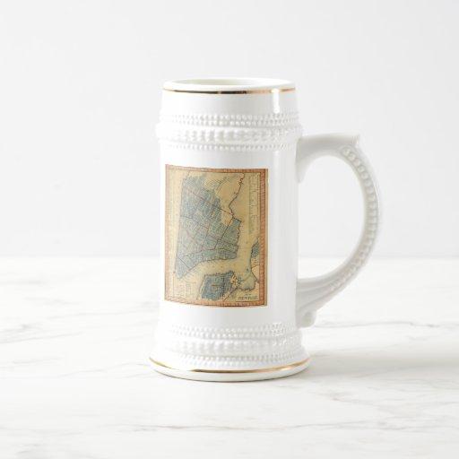 Vintage Map of New York City (1846) Mug