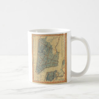 Vintage Map of New York City (1846) Classic White Coffee Mug
