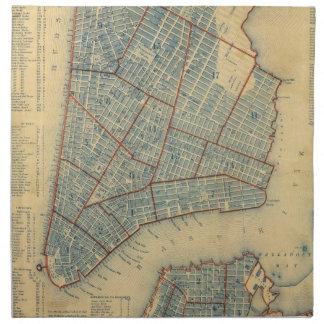 Vintage Map of New York City (1846) Cloth Napkin