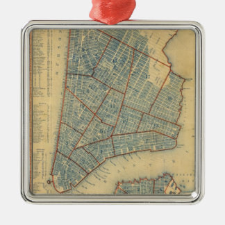 Vintage Map of New York City (1846) Ornament