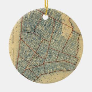 Vintage Map of New York City (1846) Christmas Tree Ornament