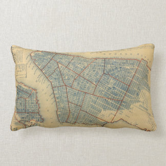 Vintage Map of New York City (1846) Pillow