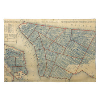 Vintage Map of New York City 1846 Place Mat