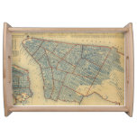 Vintage Map of New York City (1846) Serving Trays