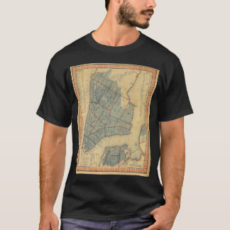 Vintage Map of New York City (1846) T-Shirt