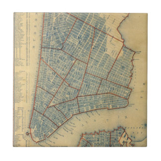Vintage Map of New York City (1846) Tile