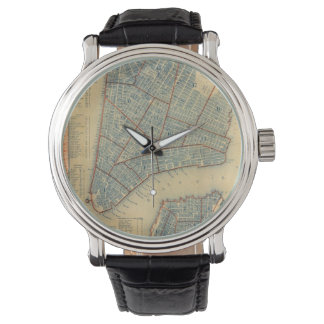 Vintage Map of New York City (1846) Wristwatch
