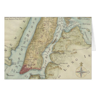 Vintage Map of New York City (1869) Card