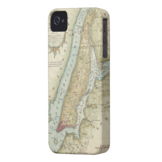 Vintage Map of New York City (1869) iPhone 4 Case-Mate Case