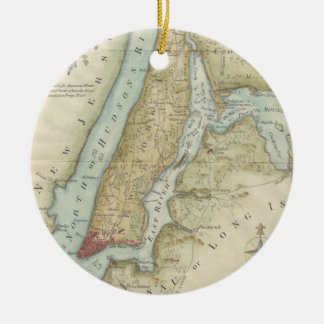 Vintage Map of New York City (1869) Ceramic Ornament