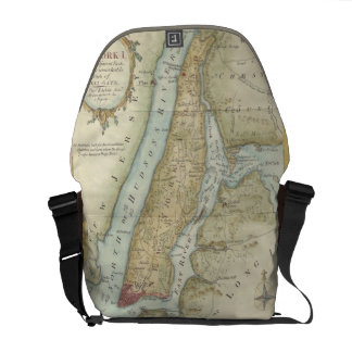 Vintage Map of New York City (1869) Courier Bag