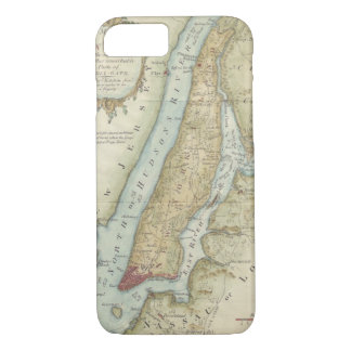 Vintage Map of New York City (1869) iPhone 7 Case