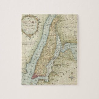 Vintage Map of New York City (1869) Jigsaw Puzzle