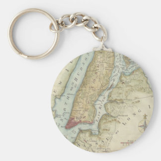 Vintage Map of New York City (1869) Keychain