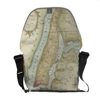 Vintage Map of New York City (1869) Commuter Bag