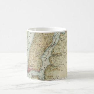 Vintage Map of New York City (1869) Classic White Coffee Mug