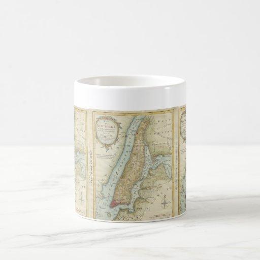 Vintage Map of New York City (1869) Coffee Mugs