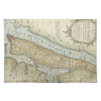 Vintage Map of New York City 1869 Placemats