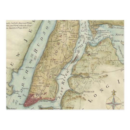 Vintage Map of New York City (1869) Postcard