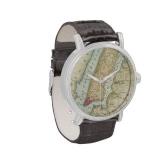 Vintage Map of New York City (1869) Wrist Watch