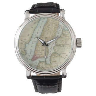 Vintage Map of New York City (1869) Wrist Watches