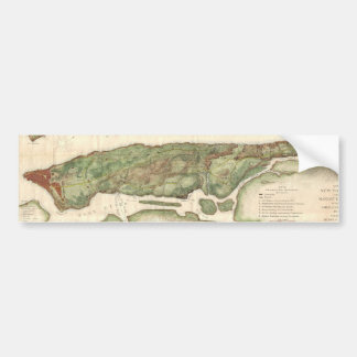 Vintage Map of New York City (1878) Bumper Sticker