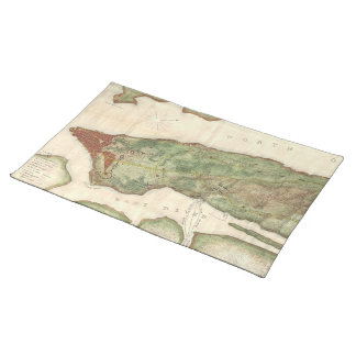 Vintage Map of New York City (1878) Cloth Placemat