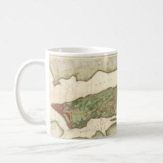 Vintage Map of New York City (1878) Coffee Mug