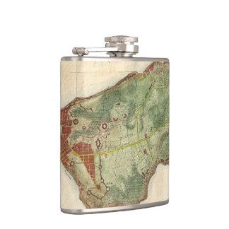 Vintage Map of New York City (1878) Hip Flasks