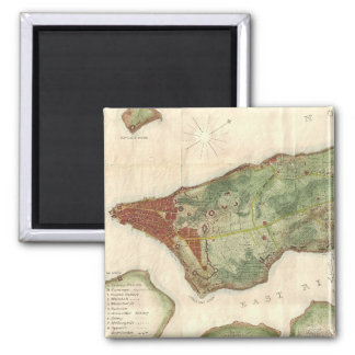 Vintage Map of New York City (1878) Magnet