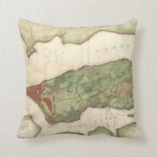 Vintage Map of New York City (1878) Pillow