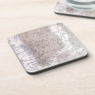 Vintage Map of New York City (1884) Drink Coaster