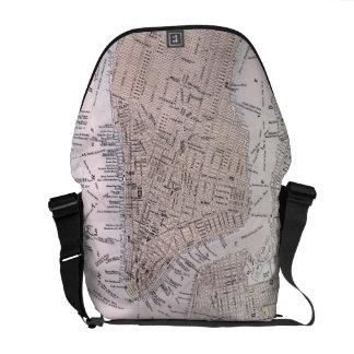 Vintage Map of New York City (1884) Messenger Bag