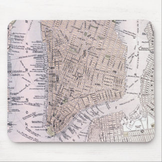 Vintage Map of New York City (1884) Mousepads