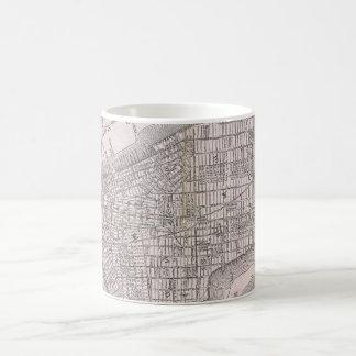 Vintage Map of New York City (1886) Coffee Mug