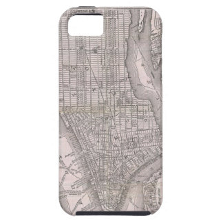 Vintage Map of New York City (1886) iPhone SE/5/5s Case