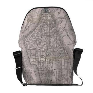 Vintage Map of New York City (1886) Messenger Bag