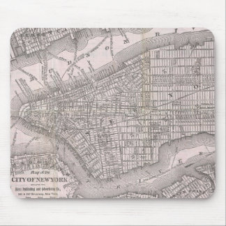 Vintage Map of New York City (1886) Mouse Pad