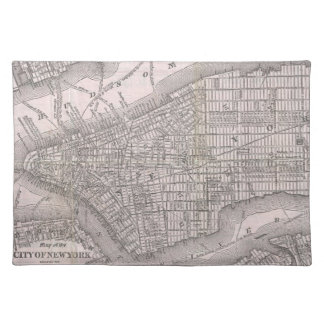 Vintage Map of New York City 1886 Place Mat