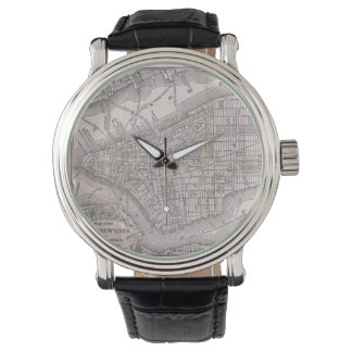 Vintage Map of New York City (1886) Watches