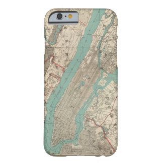 Vintage Map of New York City (1890) Barely There iPhone 6 Case