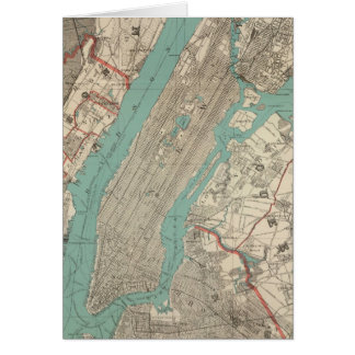 Vintage Map of New York City (1890) Card