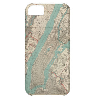 Vintage Map of New York City (1890) Cover For iPhone 5C