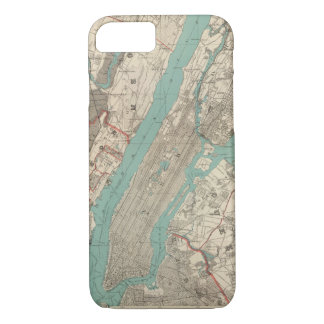 Vintage Map of New York City (1890) iPhone 7 Case
