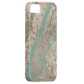 Vintage Map of New York City (1890) iPhone SE/5/5s Case